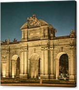Puerta De Alcala Night Canvas Print