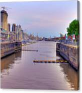 Puerto Madero Canal Canvas Print