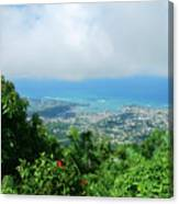 Puerto Plata Mountain View Of The Sea Canvas Print