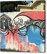 Puerto Rican Graffiti Canvas Print