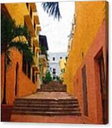 Puerto Rico Ally Way Canvas Print