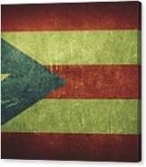 Puerto Rico Distressed Flag Dehner Canvas Print