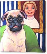 Pug - Beth Ann And Butch Canvas Print