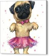Pug In A Tutu Canvas Print