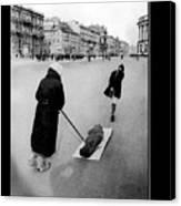 Pulling Dead Body Siege Of Leningrad Soviet Union 1941 Canvas Print