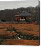 Pumping Station On The Marsh Canvas Print