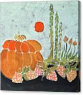 Pumpkin And Asparagus Canvas Print