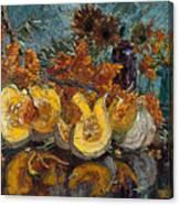 Pumpkin And Sea Buckthorn  Canvas Print
