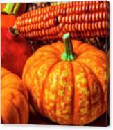 Pumpkin Corn Still Life Canvas Print