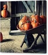 Pumpkin Family Canvas Print
