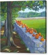 Pumpkin Muster Canvas Print