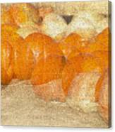 Pumpkin Overlay Canvas Print