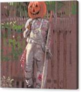 Pumpkin Scarecrow Canvas Print