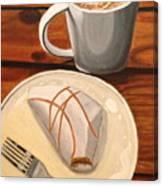 Pumpkin Scone And Pumpkin Latte Canvas Print