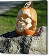 Pumpkin Skull Canvas Print