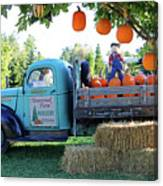 Pumpkin Truck Canvas Print