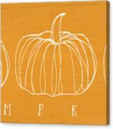 Pumpkins- Art By Linda Woods Canvas Print