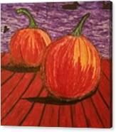 Pumpkins At The Dock Canvas Print