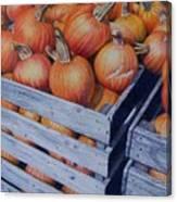 Pumpkins Two Canvas Print
