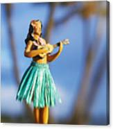 Punaluu, Hula Doll Canvas Print