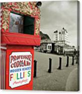 Punch And Judy Theatre On Llandudno Promenade Canvas Print