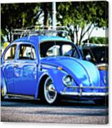 Punch Buggie Blue Canvas Print