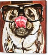 Punk Pug Canvas Print