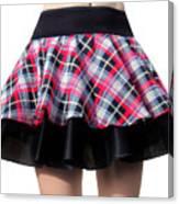 Punk Style Mini Skirt - Ameynra Fashion Canvas Print