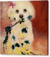Pupcasso Canvas Print