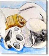 Puppy Dreams Canvas Print