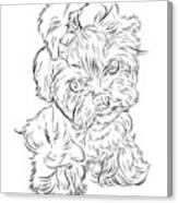 Puppy_printfilecopy Canvas Print