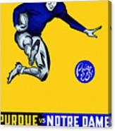 Purdue V Notre Dame 1947 Program Canvas Print