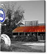 Pure Gas Station Canvas Print
