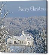 Pure White Christmas Canvas Print