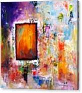 Purple Abstract Oil Painting Purplicious Canvas Print