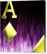 Purple Aces Poker Art2of4 Canvas Print