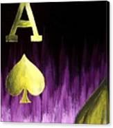 Purple Aces Poker Art4of4 Canvas Print