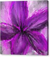 Purple And Gray Art Canvas Print