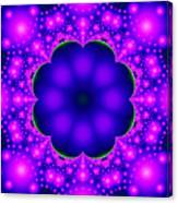 Purple And Pink Glow Fractal Canvas Print