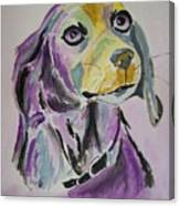 Purple Beagle Canvas Print