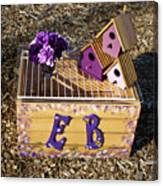 Purple Birdhouses 3 Canvas Print
