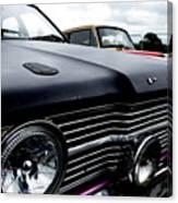 Purple, Black And Chrome Canvas Print