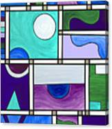 Purple-blue-green Abstract 1 Canvas Print