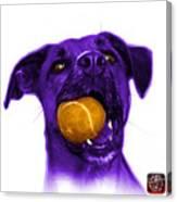 Purple Boxer Mix Dog Art - 8173 - Wb Canvas Print