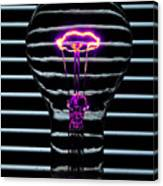 Purple Bulb Canvas Print