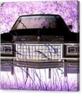 Purple Cadillac Canvas Print