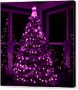 Purple Christmas Canvas Print