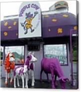 Purple Cow 1 Canvas Print