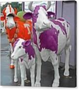 Purple Cow 2 Canvas Print