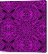 Purple Crossed Arrows Abstract Canvas Print